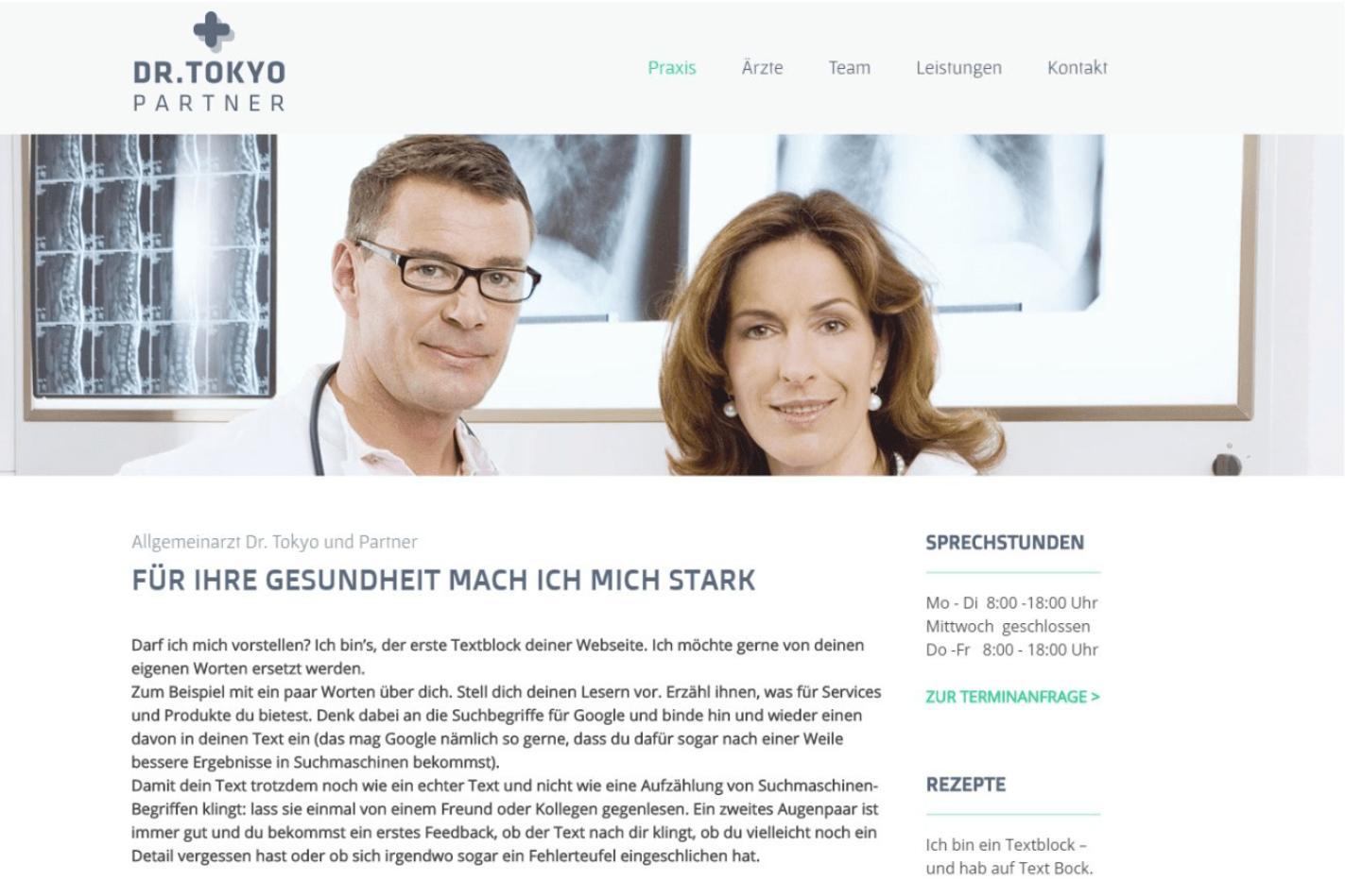 Website für Ärzte erstellen - Beispiel 3