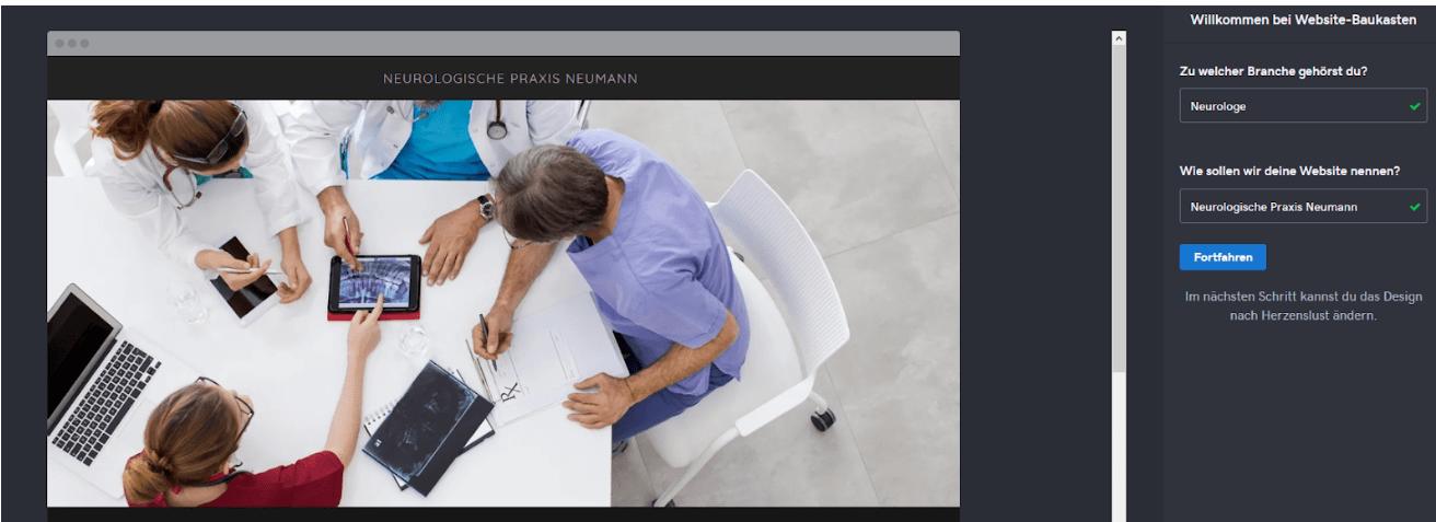 Website für Ärzte erstellen mit GoDaddy - Anleitung Schritt 4