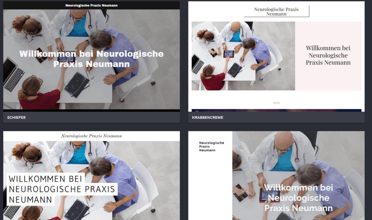 Website für Ärzte erstellen mit GoDaddy - Anleitung Schritt 6