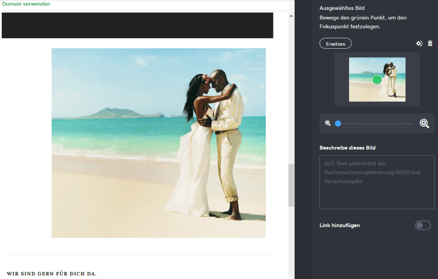 Hochzeitshomepage erstellen mit GoDaddy - Anleitung Schritt 6