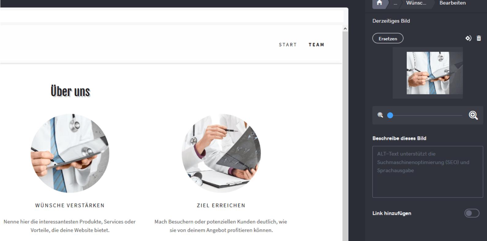Website für Ärzte erstellen mit GoDaddy - Anleitung Schritt 14