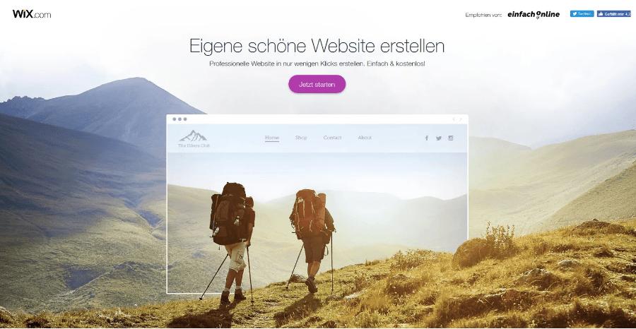 Hochzeitshomepage erstellen mit Wix Schtitt 1.1: Starten