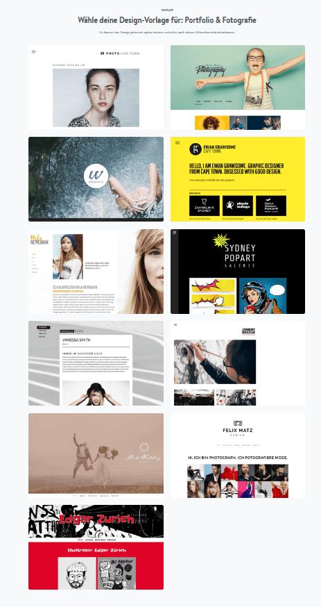 Hochzeitshomepage erstellen mit Jimdo Schritt 2.1: Designvorlage