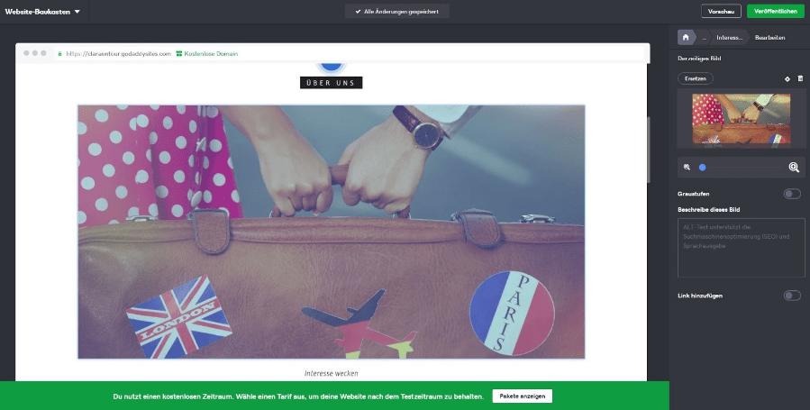 Blog erstellen mit GoDaddy Schritt 5 - Texte und Bilder
