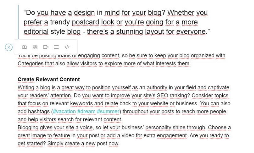 Reiseblog erstellen mit Wix Schritt 6: Inhalte und Funktionen