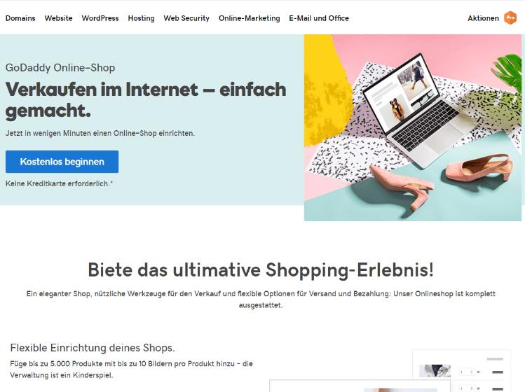 Website mit Online-Shop erstellen GoDaddy Schritt 1: Kostenlos beginnen