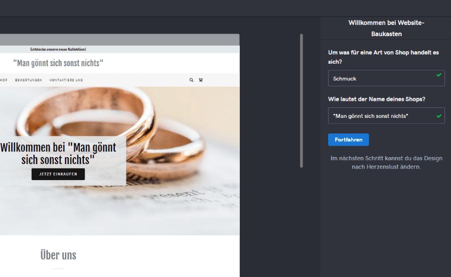 Wesite mit Online-Shop erstellen GoDaddy Schritt 2