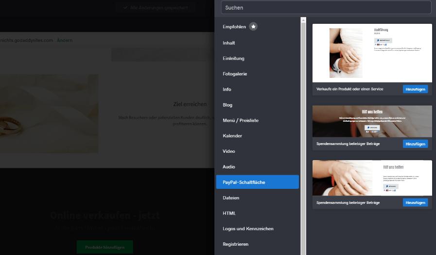 Website mit Online-Shop erstellen GoDaddy Schritt 7
