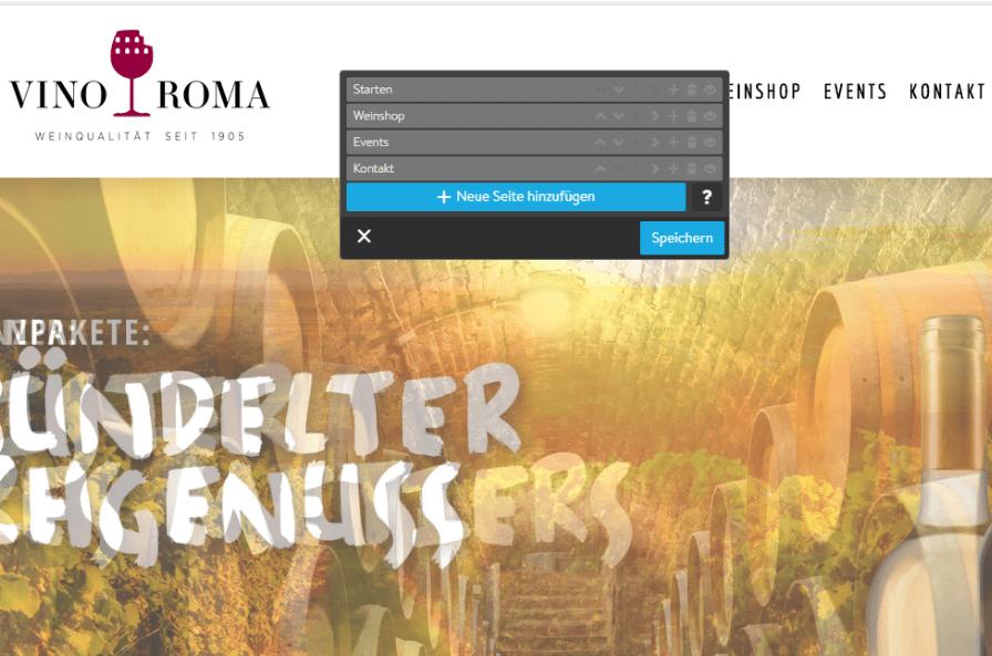 Website mit Online-Shop erstellen Jimdo Schritt 7: Seitenstruktur anpassen