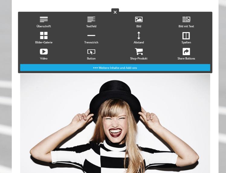 Website mit Online-Shop erstellen Schritt 8: Inhalte einfügen