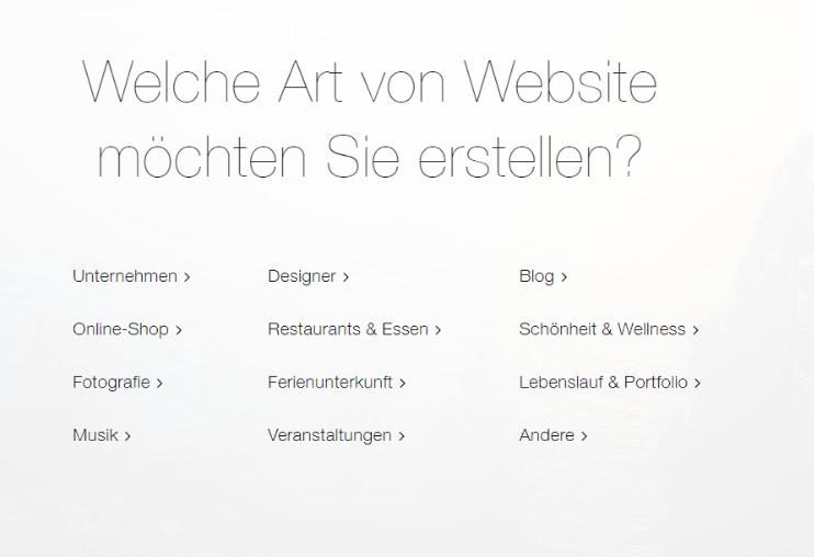 Website mit Online-Shop erstellen Wix Schritt 2