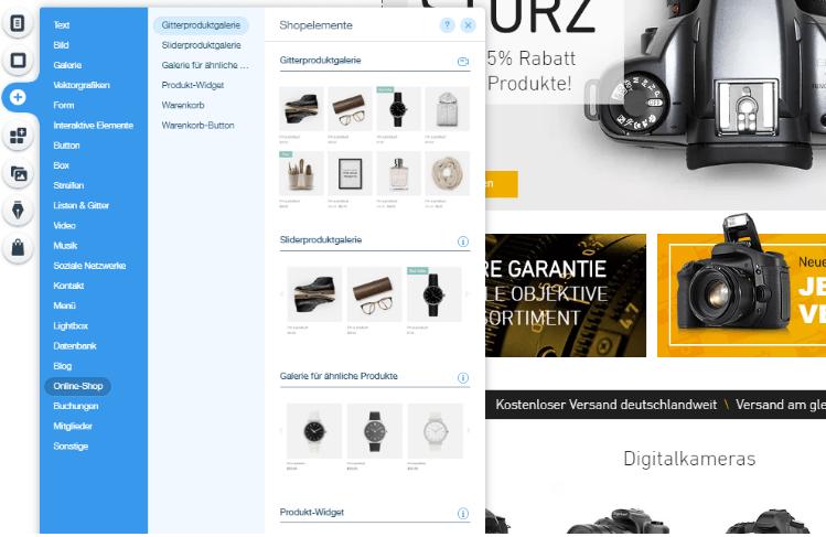 Website mit Online-Shop erstellen Wix Schritt 6: Eigene Inhalte