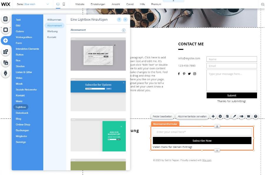 Blog erstellen mit Wix Schritt 6 - Inhalte