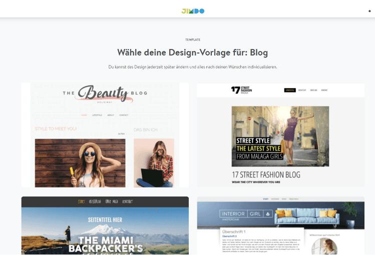 Blog erstellen mit Jimdo - Das passende Design