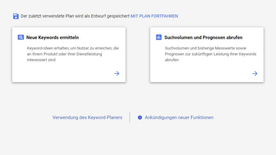 Blog erstellen mit Google Keywordplaner