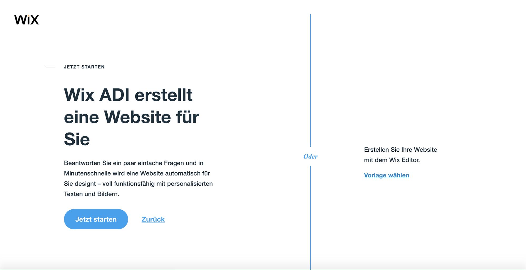 Kostenlose Website erstellen mit Wix - Schritt 2