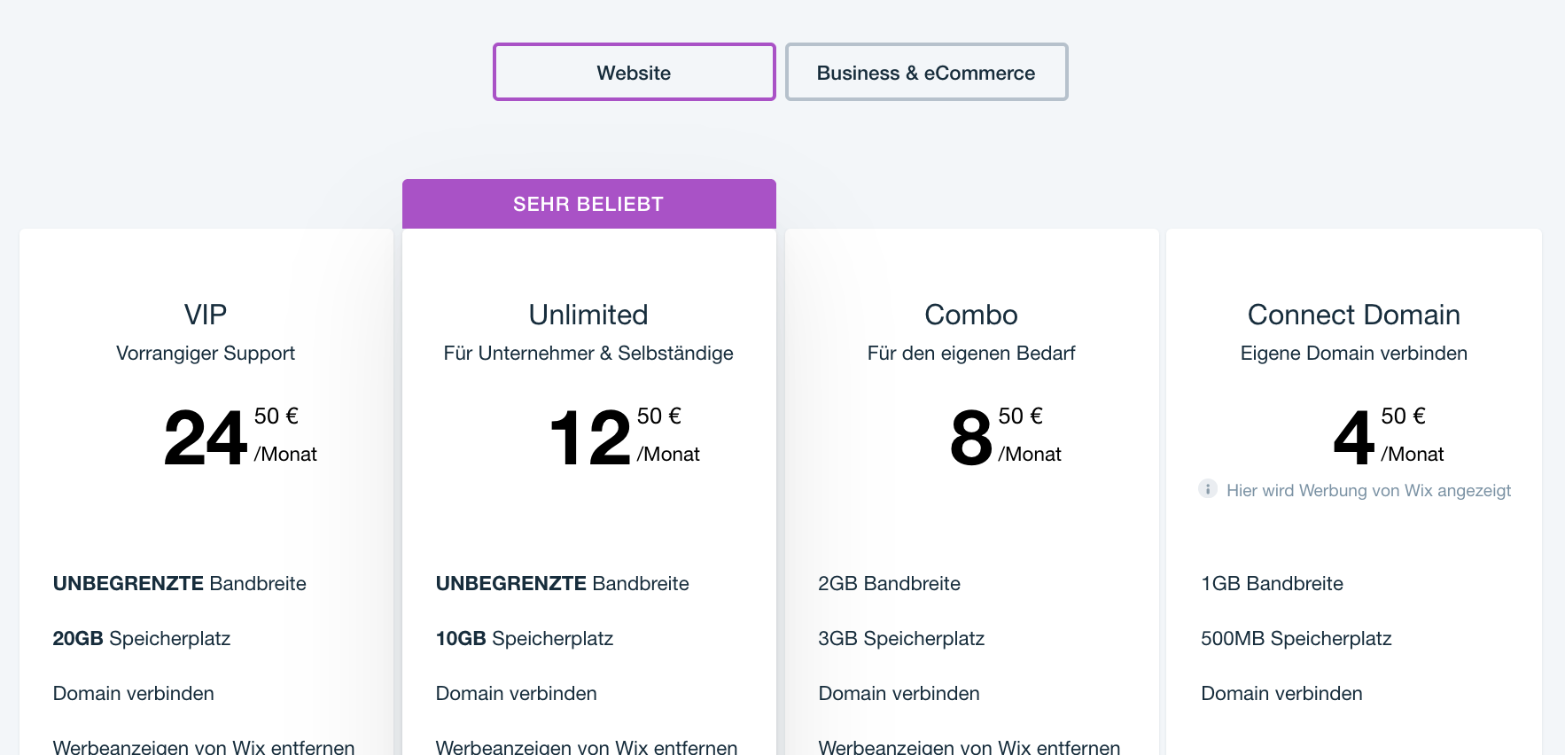 Wix im Test: Preise im Vergleich