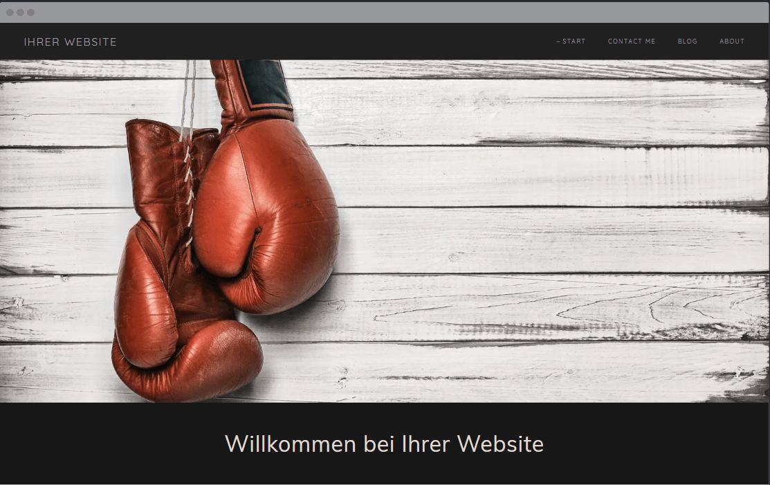 Einfache Homepage erstellen (für Anfänger): GoDaddy Beispieltemplate 3