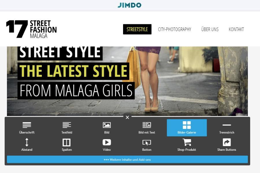 Fotoblog erstellen (2019): Jimdo Schritt 8