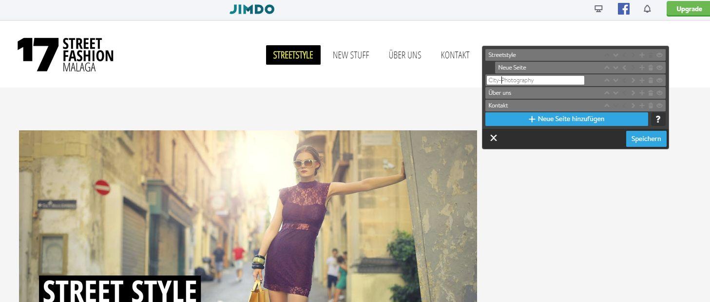 Fotoblog erstellen (2019): Jimdo Schritt 7