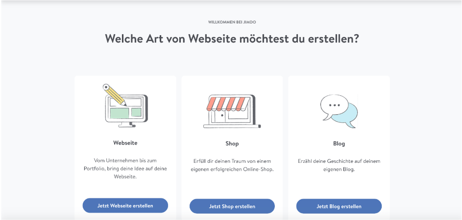 Website erstellen mit Mac (Webdesign): Jimdo Schritt 2