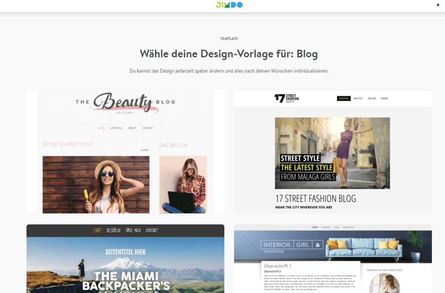 Fotoblog erstellen (2019): Jimdo Schritt 4