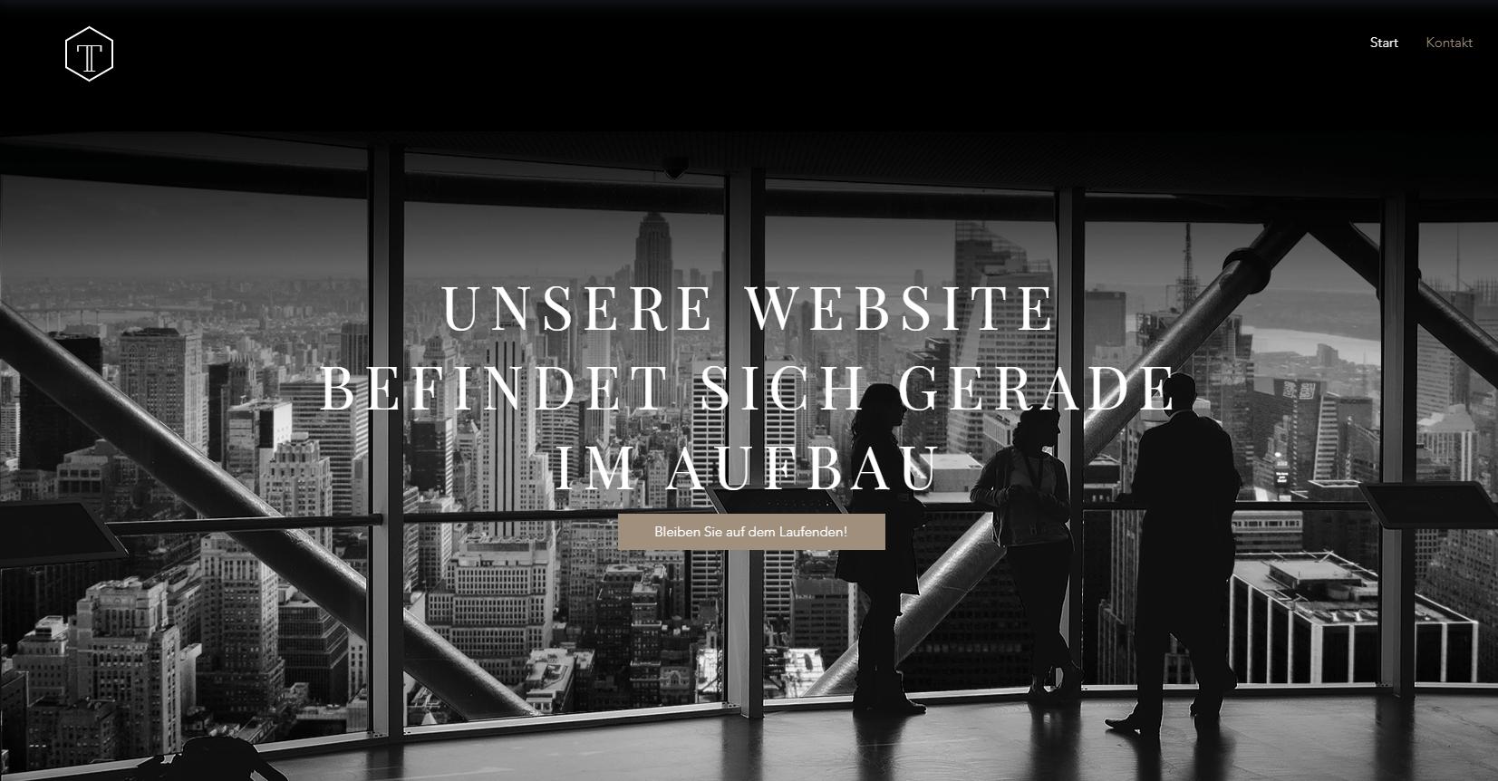 Website erstellen mit Mac (Webdesign): Wix Beispieltemplate 1