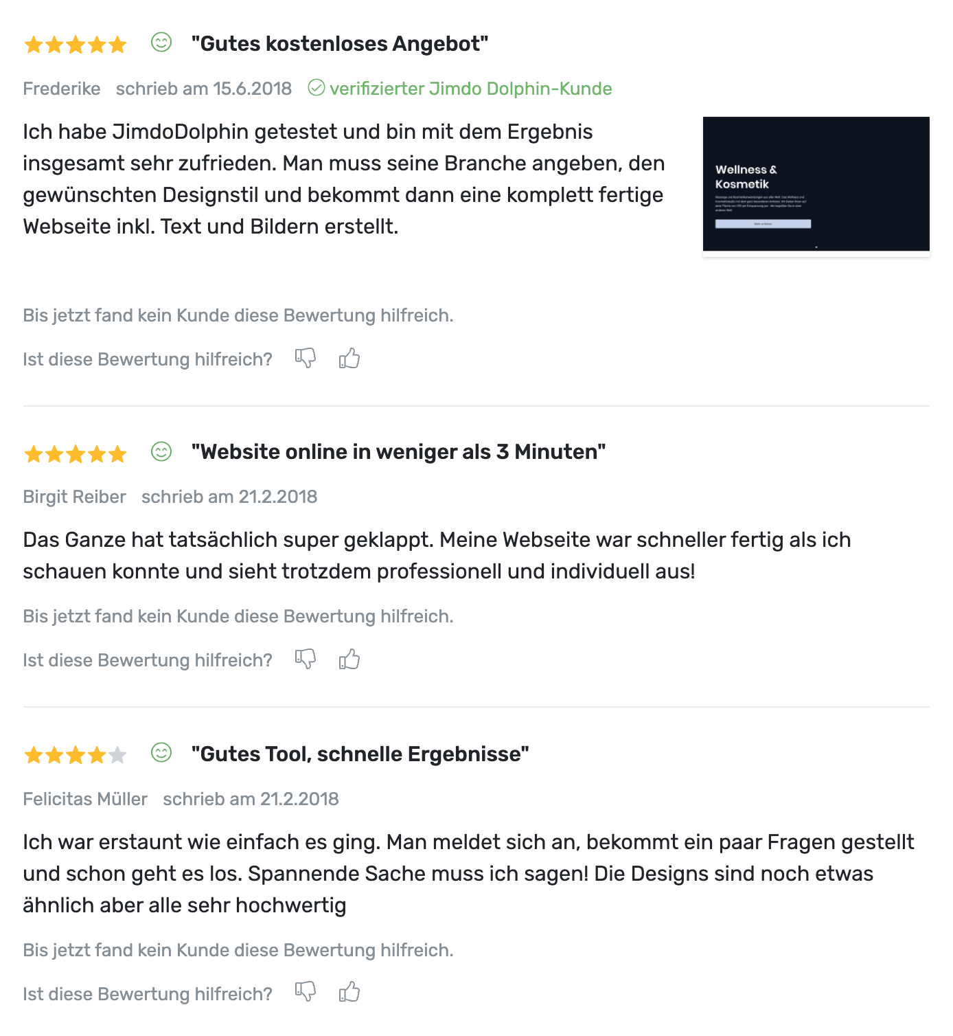 Jimdo Website Baukasten Test Bewertungen