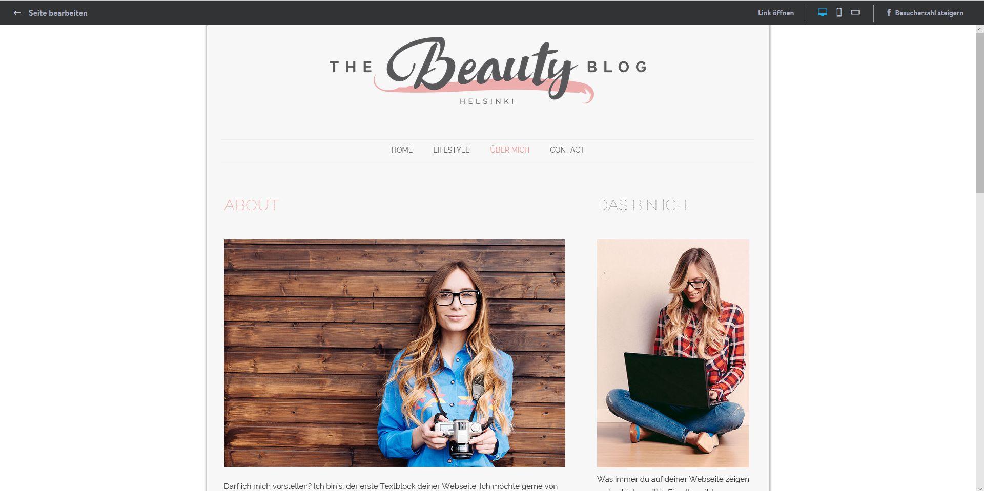 Website erstellen mit Mac (Webdesign): Jimdo Schritt 9