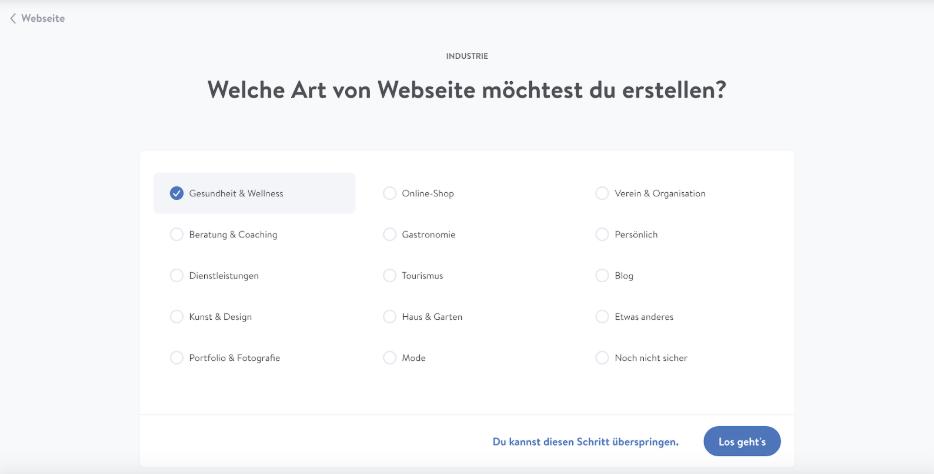 Homepage inkl. Domain erstellen mit Jimdo Schritt 3