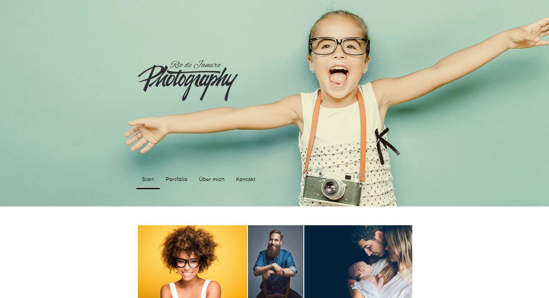 Fotoblog erstellen (2019): Jimdo Beispieltemplate 2