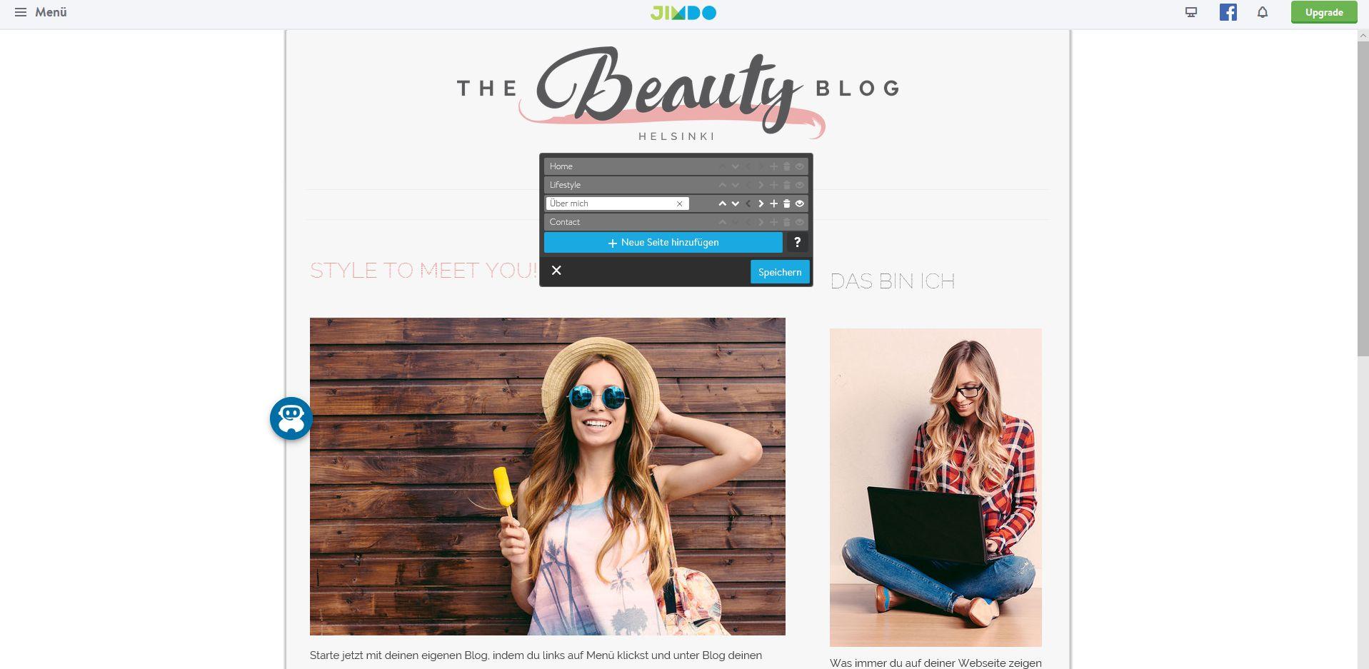 Website erstellen mit Mac (Webdesign): Jimdo Schritt 7