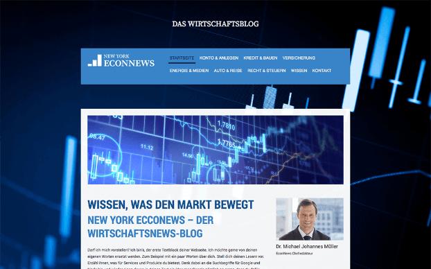 Jimdo Website Baukasten Test Beispieltemplate 4