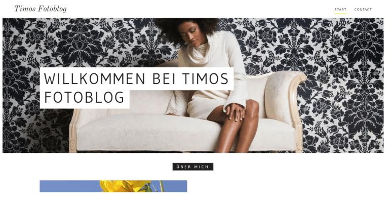 Website erstellen mit Mac (Webdesign): GoDaddy Beispieltemplate 1