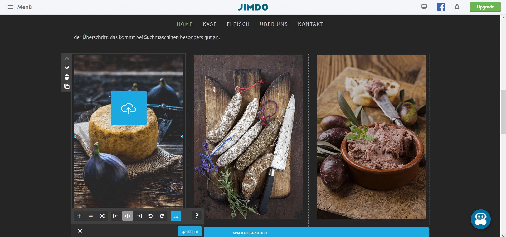 Jimdo Website Baukasten Test: Schritt 5.2
