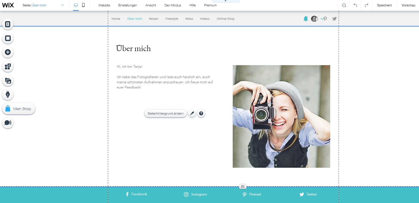 Fotoblog erstellen (2019): Wix Schritt 7