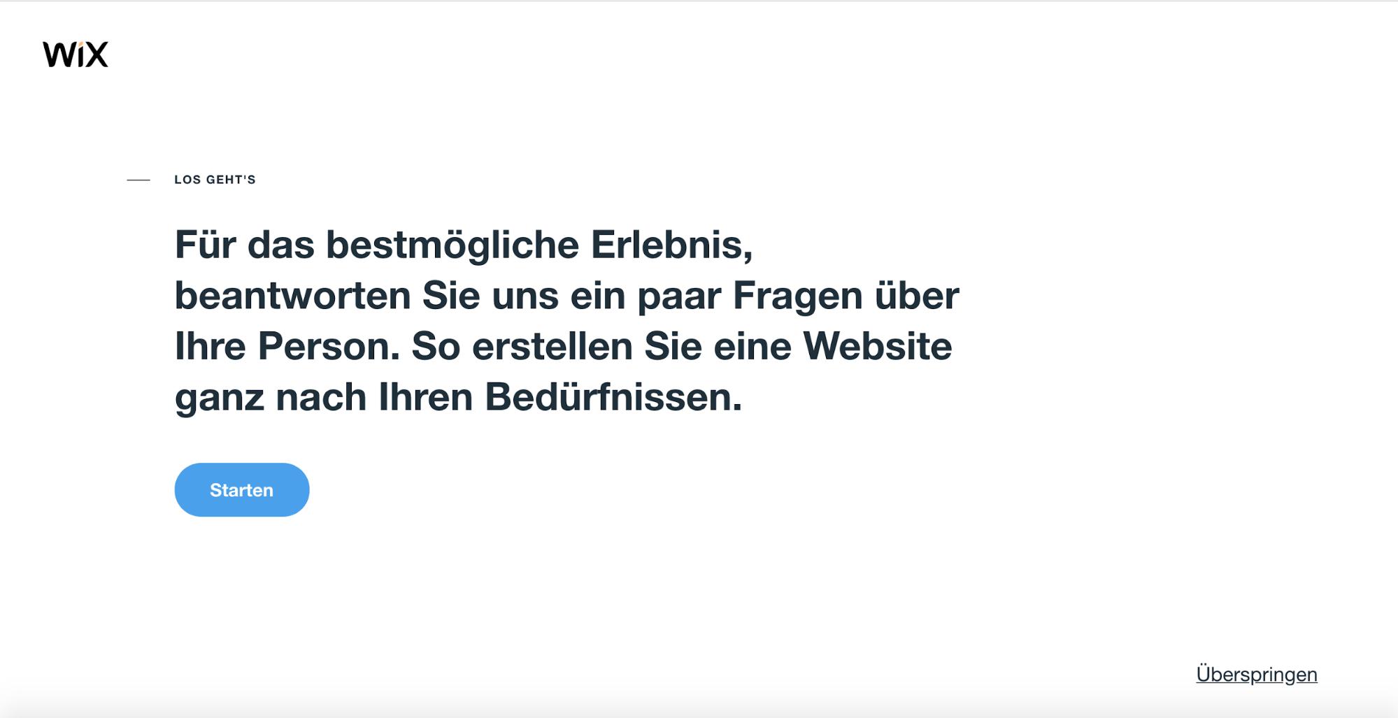 Website erstellen mit Mac (Webdesign): Wix Schritt 1.2