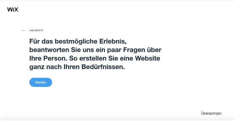 Homepage inkl. Domain erstellen mit Wix: Schritt 1.2