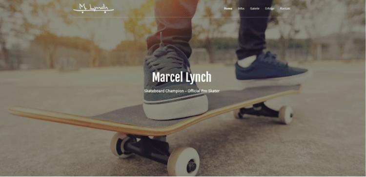 Website erstellen mit Mac (Webdesign): GoDaddy Beispieltemplate 3