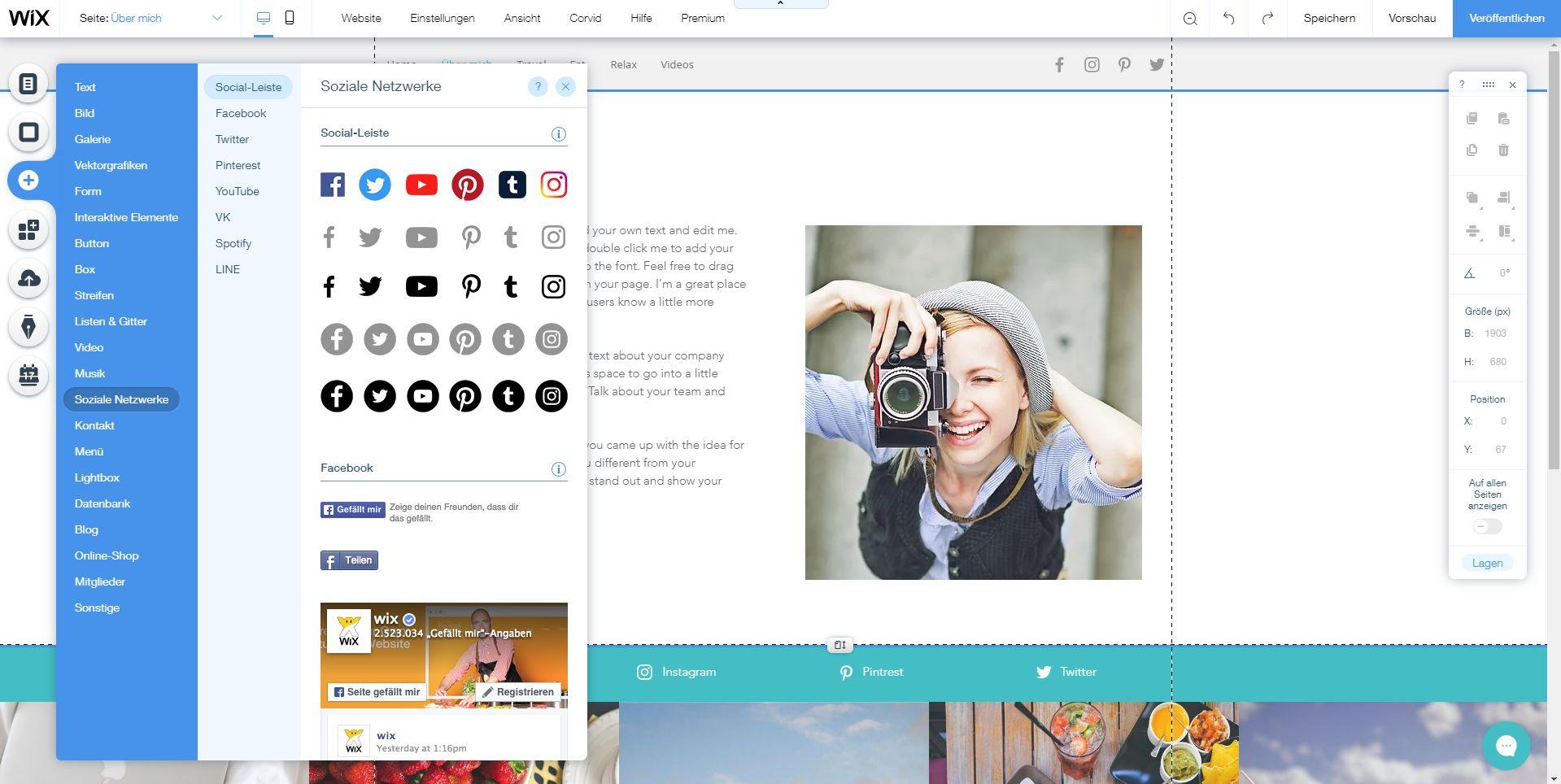 Homepage inkl. Domain erstellen mit Wix: Schritt 7