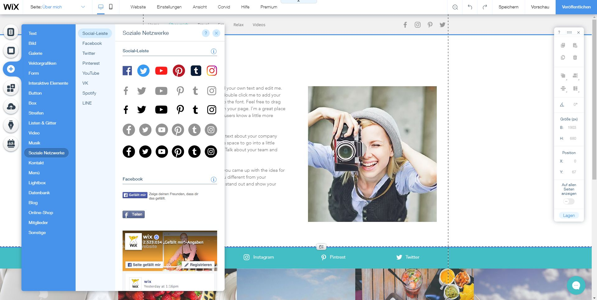 Website erstellen mit Mac (Webdesign): Wix Schritt 6