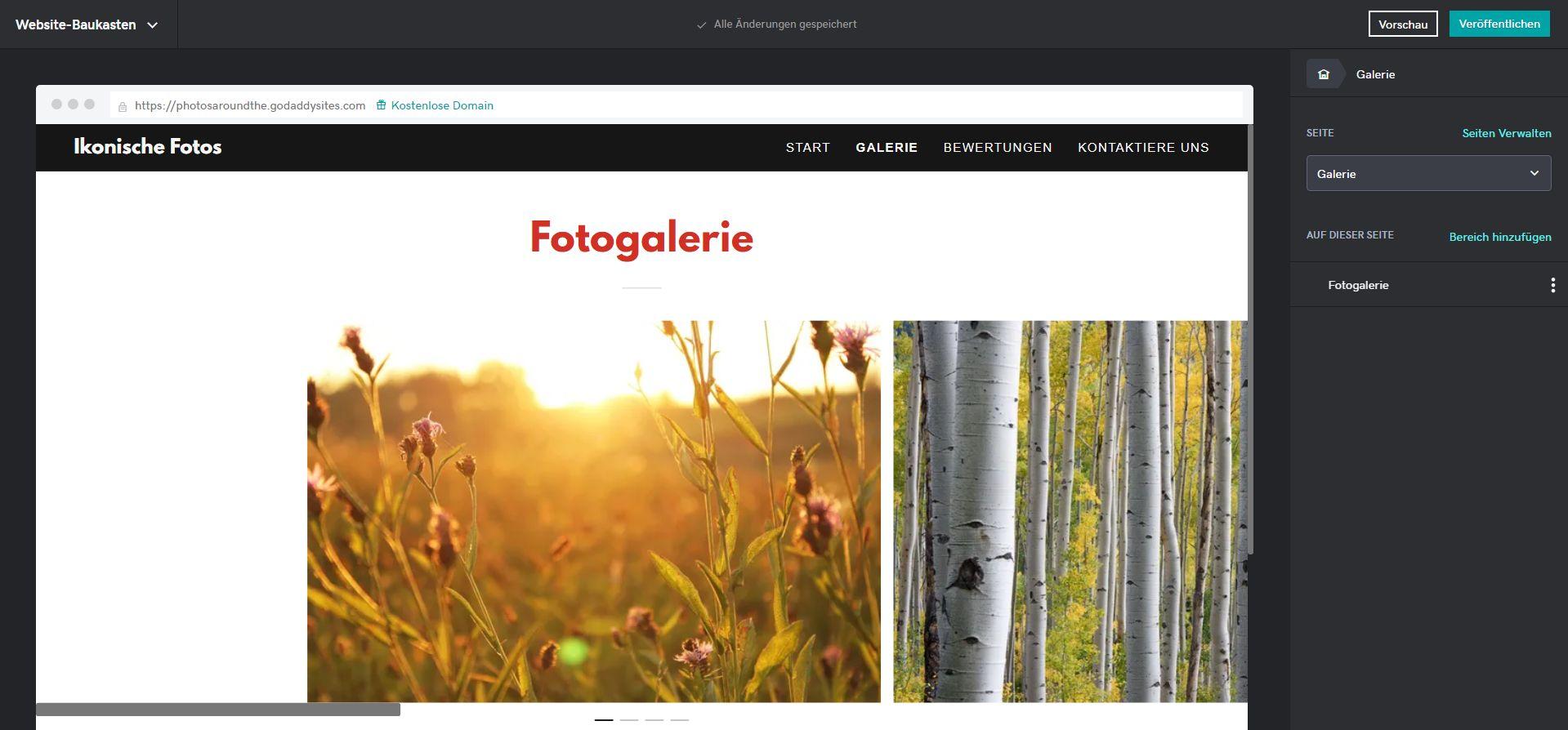 Fotoblog erstellen (2019) mit GoDaddy: Schritt 4
